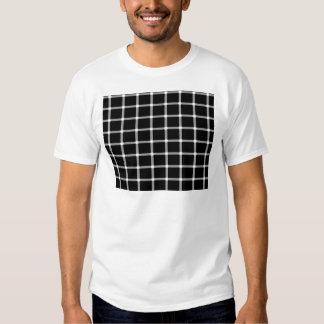 Diseño de la ilusión óptica de la rejilla playeras