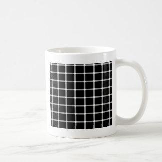 Diseño de la ilusión óptica de la rejilla taza