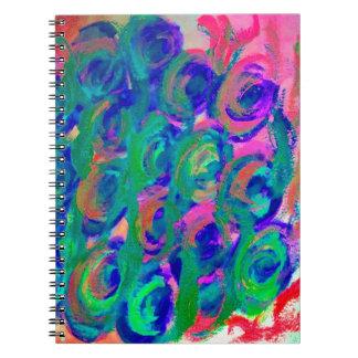 Diseño de la imagen de las flores de Pascua Libreta Espiral