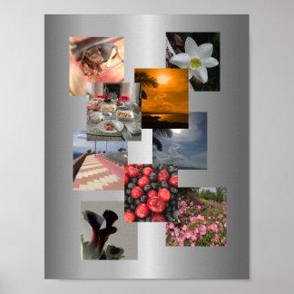 Diseño de la imagen del collage de la foto póster