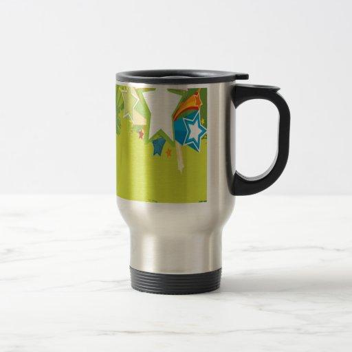 Diseño de la imagen del vector del Grunge Tazas De Café