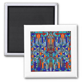 diseño de la impresión 2040 imán cuadrado