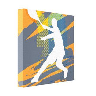 Diseño de la impresión de la lona de arte del teni lona envuelta para galerias