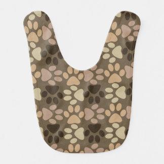 Diseño de la impresión de la pata babero