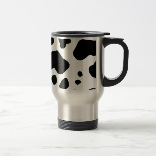 Diseño de la impresión de la vaca taza de viaje de acero inoxidable