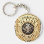 diseño de la insignia del CCW Llavero Personalizado