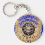 diseño de la insignia del CCW Llaveros