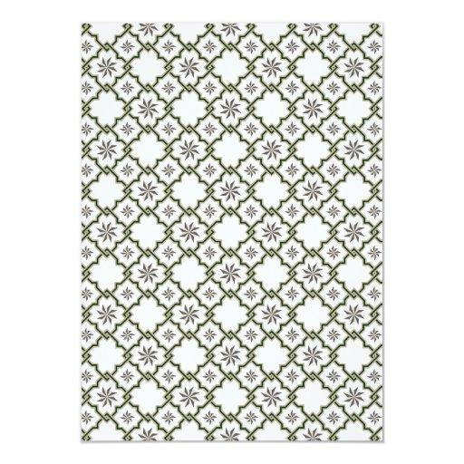 Diseño de la invitación del boda del Moorish -