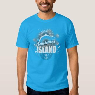 Diseño de la isla del paraíso de Santorini Remera