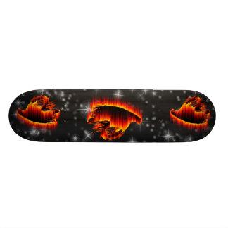 Diseño de la llama de la mosca de flámula de la pe tablas de patinar