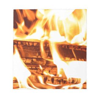 Diseño de la llama del fuego bloc de papel