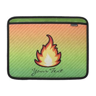 Diseño de la llama del fuego fundas para macbook air