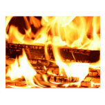 Diseño de la llama del fuego postal