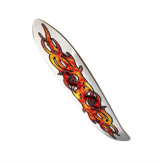 """Diseño de la llama del infierno en el monopatín de patineta 7 3/8"""""""