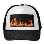 Diseño de la llama gorras