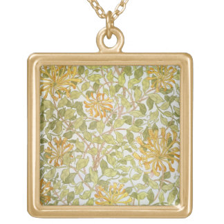 """Diseño de la """"madreselva"""", 1883 collar dorado"""