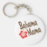 Diseño de la mamá de Bahama con la flor de Hibisuc Llavero Personalizado