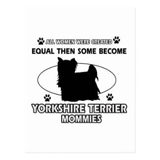 Diseño de la mamá de Yorkshire Terrier Postal