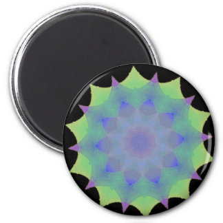 Diseño de la mandala de la cáscara de Seaglass Imanes Para Frigoríficos