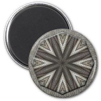 Diseño de la mandala de la cuerda imán redondo 5 cm