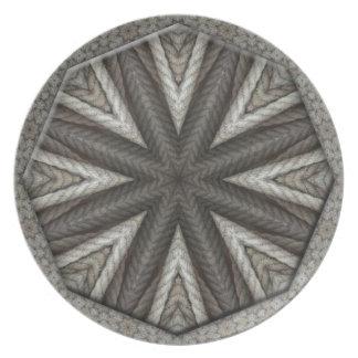 Diseño de la mandala de la cuerda plato de cena