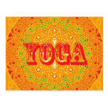 Diseño de la mandala de la yoga postal