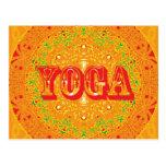 Diseño de la mandala de la yoga tarjeta postal
