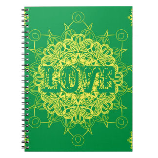 Diseño de la mandala del amor cuaderno