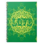 Diseño de la mandala del amor notebook