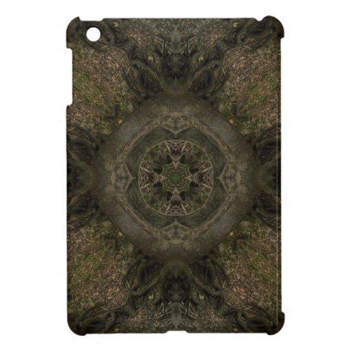 Diseño de la mandala del árbol iPad mini cárcasa