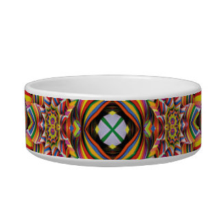 ¡Diseño de la mandala del color del molinillo de v Tazón Para Agua Para Gatos