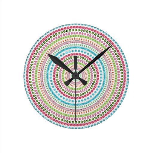 Diseño de la mandala reloj de pared