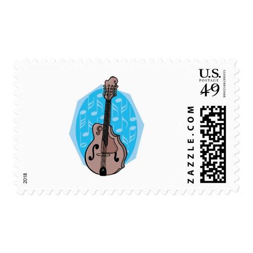 diseño de la mandolina sello