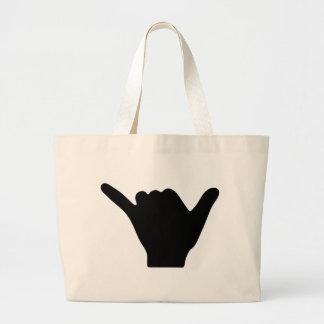 Diseño de la mano de Shaka Bolsas Lienzo