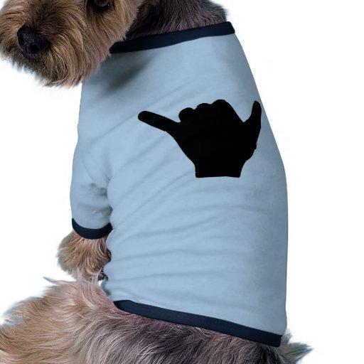 Diseño de la mano de Shaka Camisas De Mascota