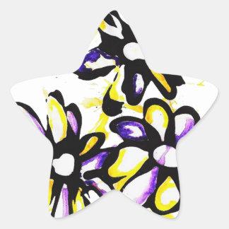 Diseño de la margarita pegatina en forma de estrella