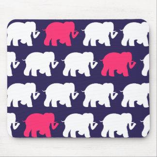 Diseño de la marina de guerra, rosados y blancos mousepads