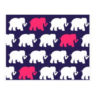 Diseño de la marina de guerra, rosados y blancos tarjetas postales