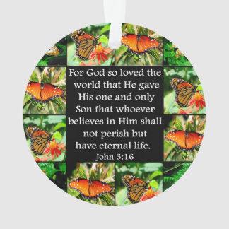 DISEÑO DE LA MARIPOSA DEL 3:16 DE JUAN