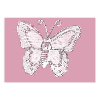 Diseño de la mariposa del arte en blanco en pálido tarjetas de negocios