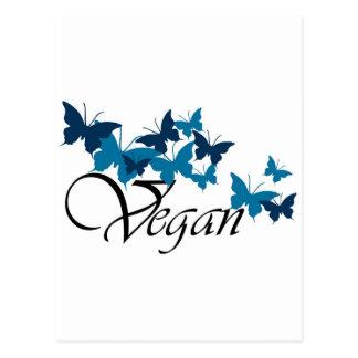 Diseño de la mariposa del vegano postal