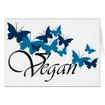 Diseño de la mariposa del vegano tarjeton