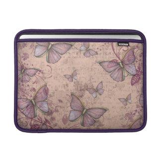 Diseño de la mariposa del vintage en sombras del fundas macbook air