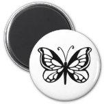 diseño de la mariposa imán de nevera