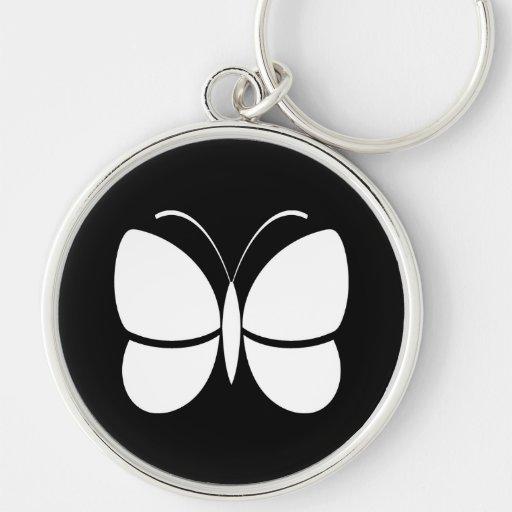 Diseño de la mariposa llavero personalizado
