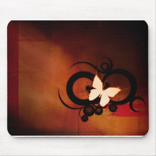 diseño de la mariposa mousepad