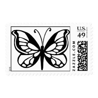 diseño de la mariposa sello