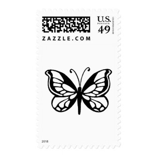 diseño de la mariposa sellos