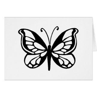 diseño de la mariposa tarjeta de felicitación