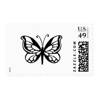 diseño de la mariposa timbres postales
